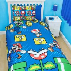 This super mario bedding is so cool I am going to try and find out where to get it! I wonder if they do larger bedding? Typical Fi liking kids stuff hehe. This pic was posted by @enricones_hohoho_gamer Baby Gamer Room!! #nintendo #ninstagram #nintendolife #nintendofan #igersnintendo #nintendoworld #nintendofamily #nintendones #supernintendo #snes #videogames #videogiochi #mario #supermario #supermariobros #supermarioworld #gamer #gamergirl #enricones_hohoho_gamer #instacool #instapic…
