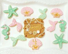 A magical mermaid party honoring my little girl who turned 4 years old and dreams of mermaids all the time. Bear Birthday, Mermaid Birthday, Birthday Bash, Birthday Parties, Under The Sea Theme, Under The Sea Party, Mermaid Cookies, Mermaid Parties, Project Nursery