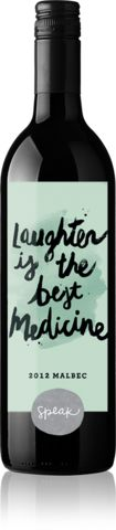 Just laugh it out! Oh, and a bottle of wine might help too. $25 www.speakwines.com