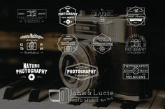 12 Vintage Photography Labels from DesignBundles.net
