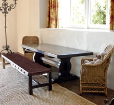 long, skinny table with bench might also work.