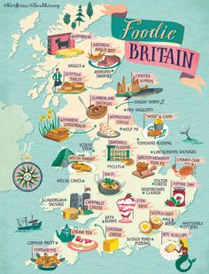 Foodie England Map by Visit Britain Travel Maps, Travel List, Places To Travel, Map Of Britain, Visit Britain, England Map, Visit England, Food Map, Travel Inspiration