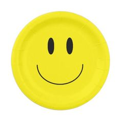 """Happy Face"" Paper Plates for any type of party or gathering! Perfect for the last day of school!"