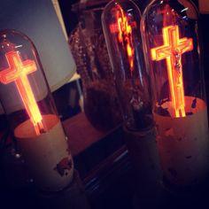 - ̗̀ saith my he A rt ̖́- Hopeless Fountain Kingdom, Sign Of The Cross, Spiritus, American Gods, Romeo And Juliet, Religious Art, Neon Lighting, Lava Lamp, Halsey