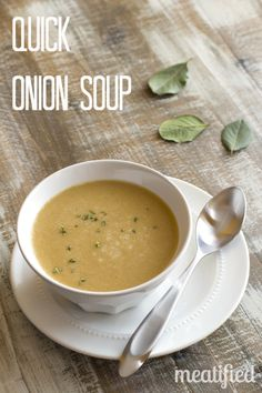 Instant Pot: Quick Onion Soup from http://meatified.com