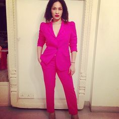 My fave designer in shocking pink suit. I need suits in my wardrobe!