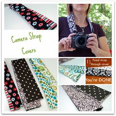 Camera strap tutorial collage