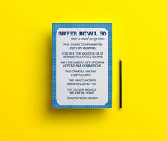 Denver Broncos // Football Drinking Game by proPartyPlanner on Etsy Super Bowl Drinking Game, Drinking Games, 50 Party, Party Shop, Ikea Tolsby Frame, Phil Simms, Panthers Vs, Denver Broncos Football, The End Game