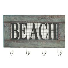 Found it at Wayfair - Wood Metal Beach Wall Hook