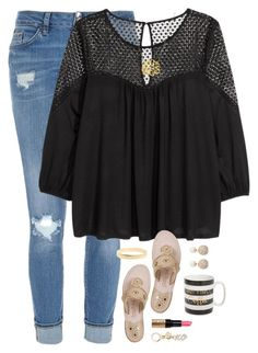 """""""READ D ONCE AGAIN"""" by kaley-ii ❤ liked on Polyvore featuring River Island, H&M, Jack Rogers, Kate Spade, Kenneth Jay Lane, Tri-coastal Design and Bobbi Brown Cosmetics"""