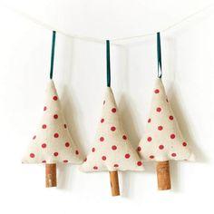 Moldes para hacer arbolitos navideños de fieltro o tela para imprimir gratis2