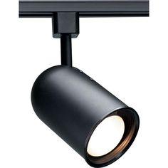 Glomar 1-Light Black Incandescent Track Lighting Head