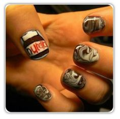 Nutella nails :)