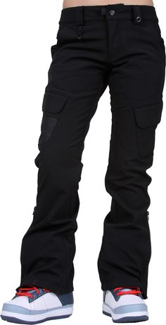 686 Women's Crown Stretch Cargo Pants - black stretch - Snowboard Shop > Women's Snowboard Outerwear > Women's Snowboard Pants > Women's Shell Snowboard Pants