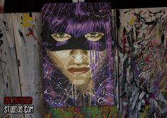 Hit Girl, Kick Ass 2 Painting - Splintered Studios - The Art of Stephen Quick