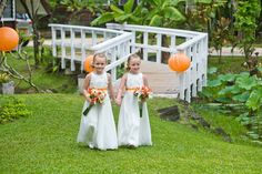 Two beautiful dresses made up for two very cute twins to match mums gown! Lucky girls.. Bertossi Brides at Paddington Weddings