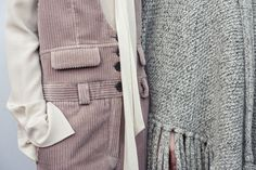 Curdoroys & soft knits backstage at the Chloé Fall-Winter 2015 runway