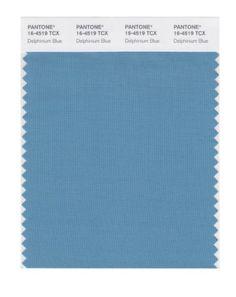 PANTONE SMART 16-4519X Color Swatch Card, Delphinium Blue. Lightly softened.