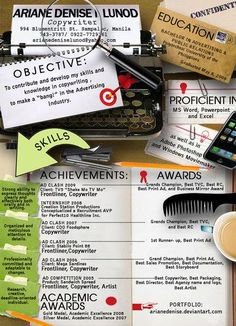 Creative Resumes  I can make a web site for my resume like that one :)