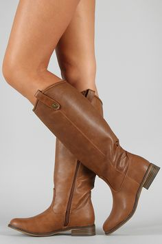 Breckelle Rider-18 Round Toe Riding Knee High Boot
