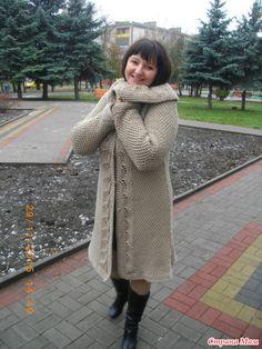 Кардиган - пальто спицами (реглан) - Вязание - Страна Мам