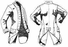 Revolutionary War Regimental Coat | Fora table showing a laundry list of apparel, accoutrements and ...