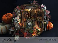 Rare Oddities Pumpkin Shadow Box, Rare Oddities, by Danielle Copley, produc by Graphic 45