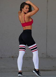 09d5472d1196d High Waist Thigh-Highs 'Retro'. Designer SportswearSock LeggingsSexy ...