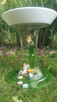 garden deco garden whimsy garden yard ideas fairies garden garden crafts fairy gardens glass garden art mosaic garden art bottle trees - Glass Garden Art