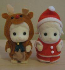 Sylvanian Families - Japanese Santa and Reindeer Costume Baby Pair