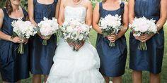 Brides And Bridesmaids, Bridesmaid Dresses, Wedding Dresses, Real Weddings, Bouquet, Beautiful, Fashion, Bridesmade Dresses, Bride Dresses