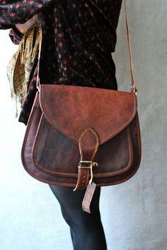 Vintage leather.