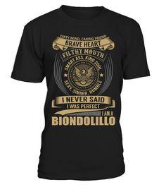 BIONDOLILLO - I Nerver Said