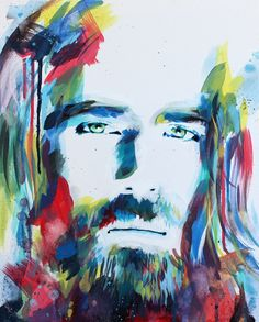 Portrait Painting of Jesus Christ titled Colorful Creator by Christian artist Lance Brown - Painted Christ Jesus Christ Painting, Jesus Artwork, Jesus Christ Drawing, Christian Paintings, Christian Artwork, Christian Artist, Jesus Drawings, Pictures Of Jesus Christ, Jesus Christus