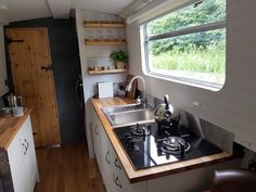 Cruise the Leicestershire waterways in boutique hotel style, with a romantic adventure aboard a Boutique Narrowboat for two. Galley Kitchens, Kitchen Appliances, Canal Boat Hire, Narrowboat Holidays, Canal Boat Holidays, Canal Boat Interior, Narrowboat Interiors, Boutique Interior, Boat Design