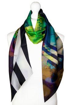 Irish Design, Scarf Design, Neck Scarves, Wearable Art, Sustainable Fashion, Color Splash, Vibrant Colors, Cashmere, Silk