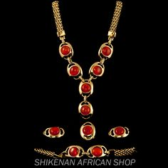 Passion Eyes Gold Plated Fashion Jewelry Set - African Fashion