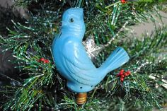 Items similar to Vintage bird Christmas tree light bulb, blue bird screw in tree light, vintage Christmas bird light on Etsy Christmas Tree Light Bulbs, Vintage Christmas Lights, Christmas Bird, Vintage Fairies, Vintage Birds, Lighted Branches, Jolly Holiday, Tree Lighting, Fairy Lights