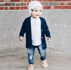 Orcas Lucille - Orcas Lucille – Home Cardigan + Henley Tee - Baby Outfits, Outfits Niños, Little Boy Outfits, Toddler Boy Outfits, Cute Boy Outfits, Toddler Shoes, Toddler Boy Fashion, Little Boy Fashion, Kids Fashion