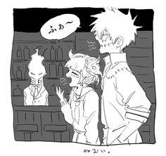 Boku no Hero Academia    Black Mist, Himiko Toga, Dabi.