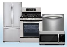 Package 1 - LG Builder's Special Package - 4 Piece Appliance Package - Stainless Steel - Gas