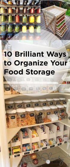 10 Brilliant Ways to Organize Your Food Storage