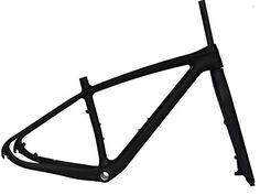 Full Carbon Matt Matt 29er Mountain Bike MTB Cycling BB30 Frame And Fork 17.5' ** Learn more by visiting the image link.