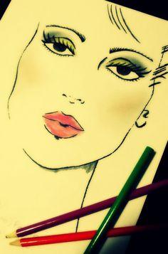CROQUI. #Inspiração #MakeUp