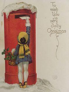 little art deco vintage engagement notebook for purse pocket unused christmas mailghost - Mailing Christmas Cards