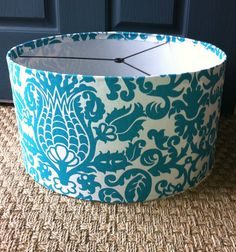 Turquoise Lamp Shade.