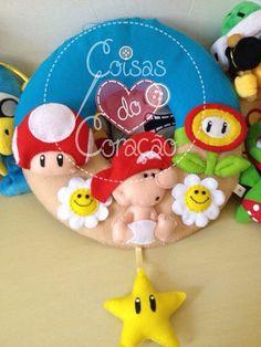 Porta Maternidade Baby Mario #Feltro