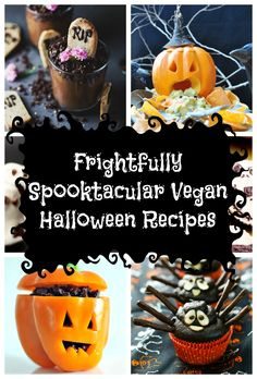 Halloween is such a fun time of year. Children (and adults) have an excuse to let their inner monster out whilst indulging in the creepy goings on. Whether you are planning a Halloween get together, or a spooky dinner before a long night's trick or treating, I have for you a selection of Frightfully Spooktacular Vegan Halloween Recipes that will have everybody quaking in their boots.
