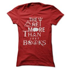 """They Are More Than Just Books!!! """"They are more than just books"""" t-shirt /hoodie with multi-fandom symbols from Percy Jackson, Harry Potter, The Fault in Our Stars, The Mortal Instruments, The Hunger Games, and Divergent! Keyword for searching: They Are More Than Just Books, They Are More Than, book, Harry, potter, magic, shirtforyou"""