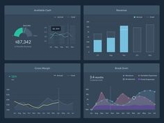 Dashboard for monitoring runway, expenses, revenue, and profitability  knowlium.com